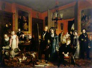 The Artist and His Family in Their House at 21 Brook Street, Grosvenor Square, London
