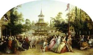 The Dancing Platform at Cremorne Gardens, London