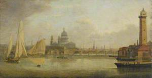 St Paul's Cathedral across the Thames, London