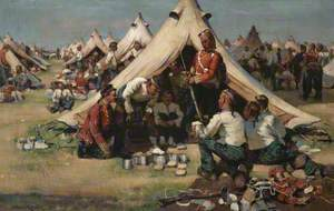 The Argylls in Camp at Stirling