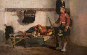 Two Highland Soldiers in the Guardroom