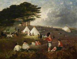 The 93rd Highlanders at Chobham Camp
