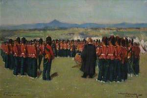 Church Parade of the 3rd Battallion Argyll and Sutherland Highlanders