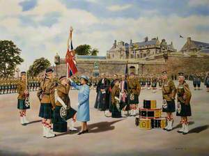 HM the Queen Presenting the Colours at Stirling Castle