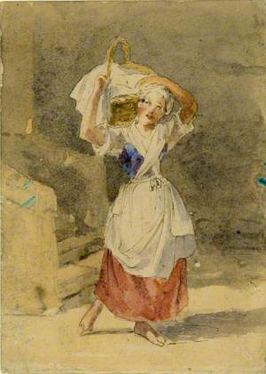 Young Woman with Basket