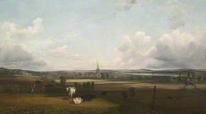 A Prospect of Alloa, Clackmannanshire from the North Looking towards the River Forth
