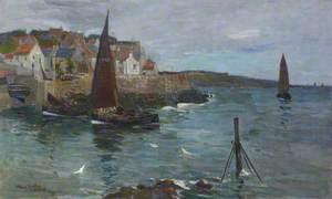 Crail Harbour and Village from the Sea
