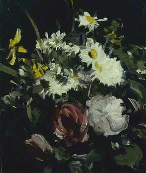 Flowers against a Dark Background