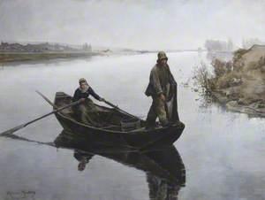 Poissy, French River Scene