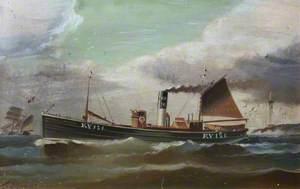 Steam Drifter 'Preston' (KY121), Leaving Aberdeen