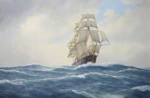 Sailing Ship 'Ethiopia' at Sea