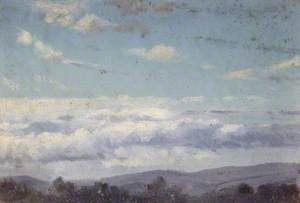 Forest Landscape with Clouds