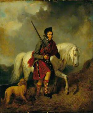 Highland Gillie and His Pony