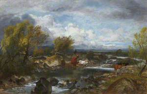 A River Scene with Cattle