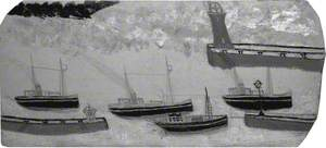 Four Steam Ships and Three Jetties