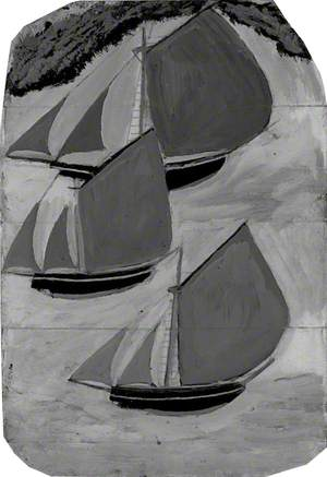Three Grey-Sailed Ships