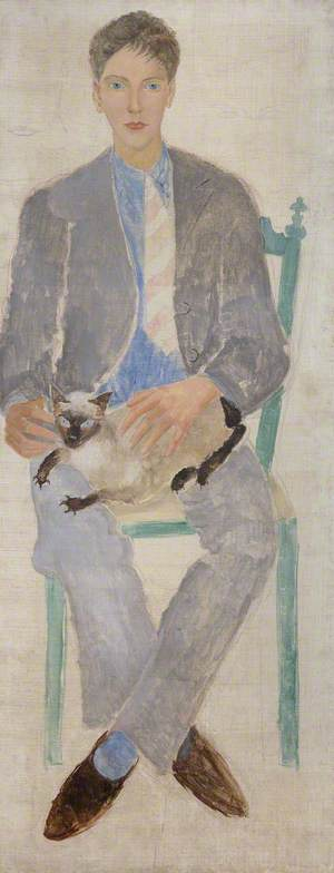 Boy with a Cat (Jean Bourgoint)