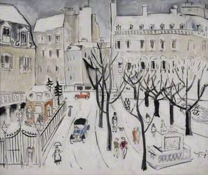 Paris Snow Scene