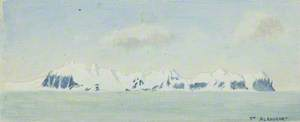 Spitsbergen: Entrance to Is Fiord on the Right, North of Ice [sic] Fiord