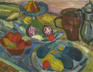 Still Life with Jugs and Aubergines