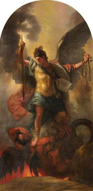 Archangel Michael Binding the Devil