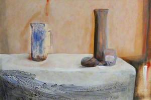 Still Life with Three Vessels and a Pebble