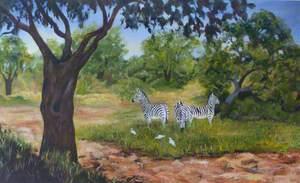 Zebras in the Savannah*