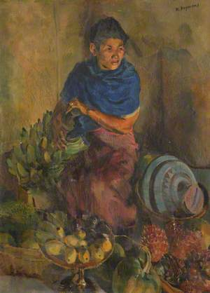 Asian Lady and Fruit