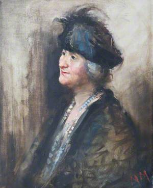 Woman in a Black Hat (Mrs Parlor of Meldreth) ('The Homestead Meldreth')