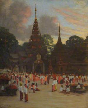 The Shwe Dagon Pagoda, Rangoon