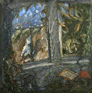 Studio Window with Passing Figure