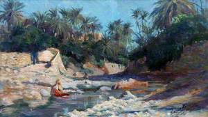 The River Bed, Bou Saada Oasis, Algiers