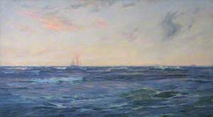 Schooner on the High Seas