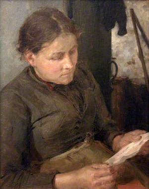 Study for 'The Message' (Mrs Fouracre)