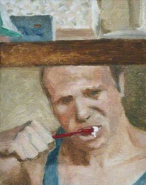 Self Portrait, Brushing My Teeth