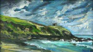 Dramatic Light, Pednevaden Point from Porthcurnick, 6 October 1993