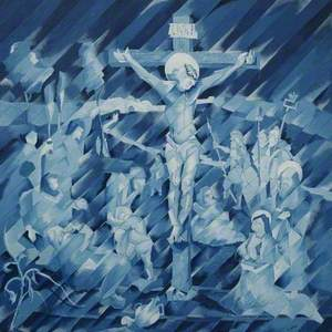 Crucifixion in Blue