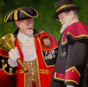 The Callington Town Crier and the Liskeard Town Crier