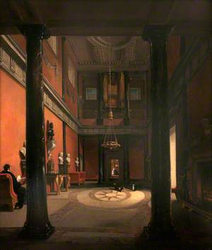 The Interior of a Large Country House (Great Hall, Mount Edgcumbe)