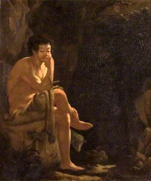 Saint John the Baptist in a Wooded Landscape