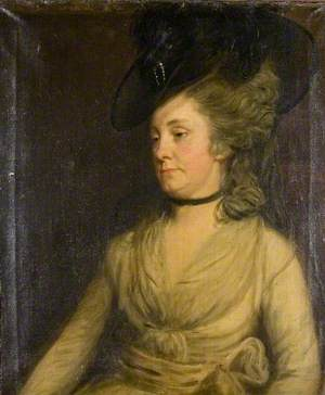 Portrait of a Lady Wearing a Black Hat