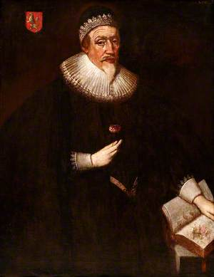 Portrait of a Gentleman, Holding a Red Rose