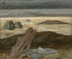 Sketch for 'Landscape and Rocks'