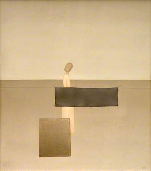 Woman with Grey Rectangle