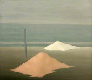 Pole and Two Sand Piles