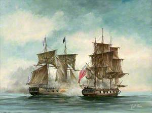 The 'Antelope' Packet Captures the 'Atlanta' French Privateer, off Jamaica, 2 December 1793