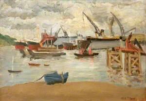 Floating German Dock in Falmouth Docks