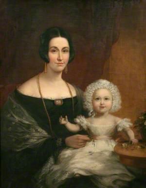 Mrs John Batten, Mayoress of Penzance, and Child