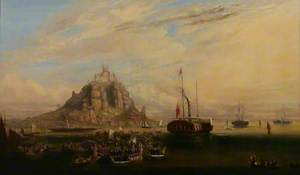 The Departure of Queen Victoria and Prince Albert from St Michael's Mount