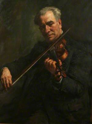 The Violinist (Walter Barnes, the Conductor of the Penzance Orchestral Society)